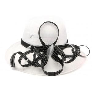Chapeau mariage Blanc et noir Loly