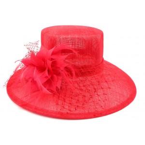Chapeau mariage Rouge Macha