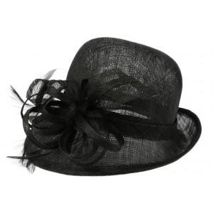 Chapeau mariage noir Melle