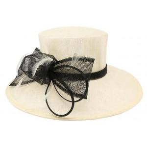Chapeau mariage Ecru et Noir melyo