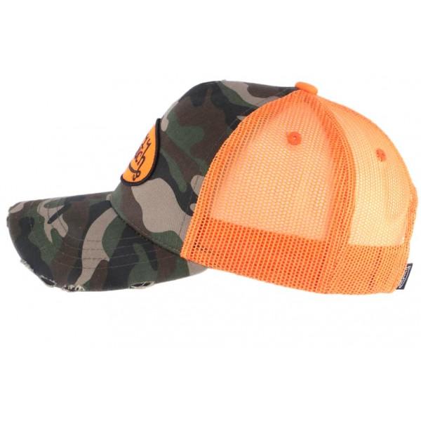 3c10a534f45d2 Casquette filet Von Dutch militaire Camouflage Orange - OBOCLIC