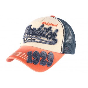 Casquette Von Dutch John Bleue et Orange