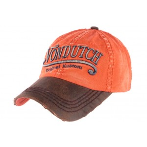 Casquette Von Dutch Halton orange retro