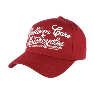 Casquette Von Dutch Rouge Custom