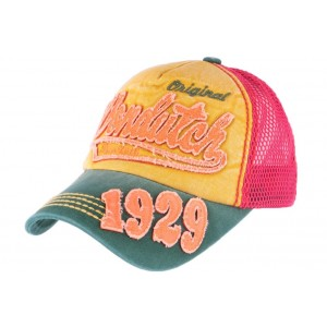 Casquette Von Dutch Orange et Rouge John