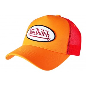 Casquette Von Dutch Orange Fresh