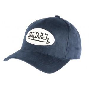 Casquette Von Dutch Marron Suede