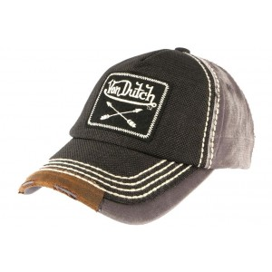 Casquette Baseball Von Dutch Grise Vintage Arrow