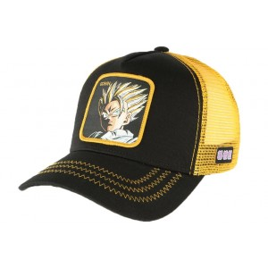 Casquette Dragon Ball Z Gohan Supa Collabs noir jaune