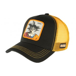 Casquette Dragon Ball Z Sangoku Collabs noir orange