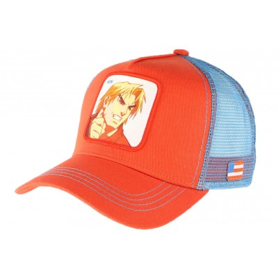 Casquette Street Fighter Ken Collabs Rouge